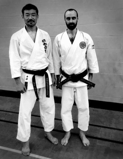 Kancho Nobuaki Kanazawa and Alberto Scarpellini standing side by side
